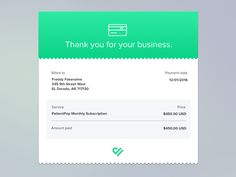Monthly Email Invoice / Reciept by Justin Roberts