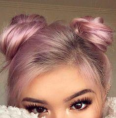 Double pastel pink buns