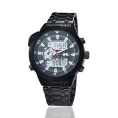 YAKI Herren Armbanduhr Herrenuhr Analog Digital Quarz Uhr Weiss 1040-W