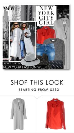 """Day One: The Best NYFW Street Style"" by beebeely-look ❤ liked on Polyvore featuring L.K.Bennett, Blumarine, Étoile Isabel Marant, StreetStyle, NYFW, hat and sammydress"