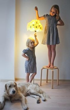 Gorgeous lampshade made with Makedo and materials at home by Russian artist and Makedo 'Master Maker' - Katya Kozlova.