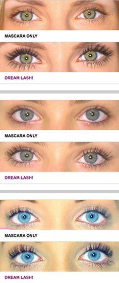 before & after false eyelashes