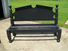 I want to make one of these for my mudd room!!! Headboard bench from www.myrepurposedlife.net