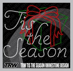 TRW Tis The Season Rhinestone Template (File Download Version)