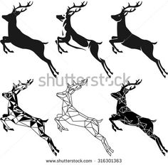 jumping deer illustration - Google Search