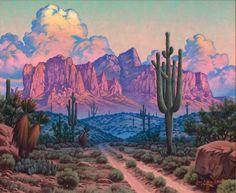 Arizona by Texas artist Jose Aceves Landscape Art, Landscape Paintings, Desert Landscape, Landscapes, Landscape Designs, Contemporary Landscape, Landscape Lighting, Contemporary Artists, Painting Inspiration