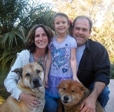 Here we are with  two of our dogs.