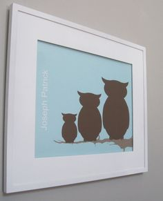 Wall art for Owl theme