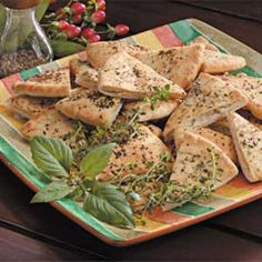 Herbed Pita Chips - use Joseph's pitas