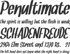 Snickles Font Phrases