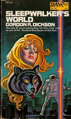 FRANK KELLY FREAS - art for Sleepwalker's World by Gordon R. Dickson - 1972 DAW Books