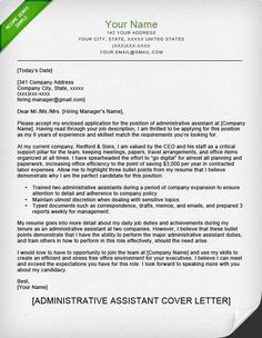 Executive Assistant Cover Letter Samples  Creative Resume Design