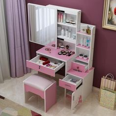 kids makeup table kids furniture childrens vanity. Black Bedroom Furniture Sets. Home Design Ideas