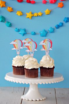 The Vintage Hot Air Balloon Collection - Custom Cake Topper