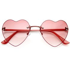 Cute Summer Colorful Heart Shape Womens Sunglasses 8797 ($9.99) ❤ liked on Polyvore featuring accessories, eyewear, sunglasses, glasses, jewelry, summer glasses, heart sunglasses, rimless sunglasses, multi colored sunglasses and heart glasses