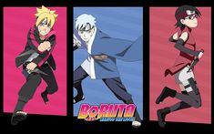 Wallpaper Hp, Wallpaper Keren, Naruto Wallpaper, Wallpaper Backgrounds, Galaxy Wallpaper, Blue Backgrounds, Boruto And Sarada, Naruto Shippuden Sasuke, Hinata Hyuga
