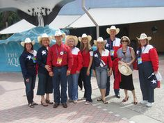 """A few of the 50+ Texans who attended the RNC for Liffe """"Treasure Life"""" event at the Tampa Aquarium."""