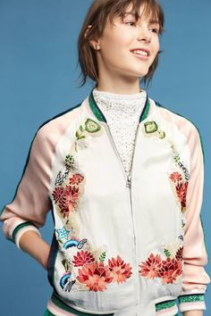 Shop the Les Fleurs Embellished Bomber and more Anthropologie at Anthropologie today. Read customer reviews, discover product details and more.