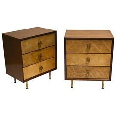 Pair of 1950s Italian Goat Skin Vellum Front Chests | See more antique and modern Commodes and Chests of Drawers at https://www.1stdibs.com/furniture/storage-case-pieces/commodes-chests-of-drawers