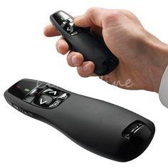 Nuovo Arrivo Portatile Comodo Palmare Ricevitore Telecomando Wireless Presenter R400 Puntatore Caso con Laser Rosso Penna Nera