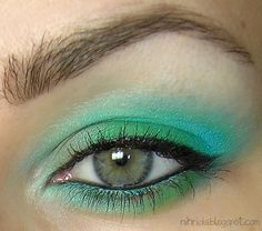 super bright eyeshadow. Mostly for blue/green eyes. One way to bring your eye color out.