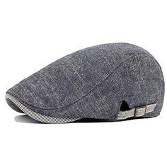 Qunson Mens Gatsby Ivy Irish Hunting Newsboy Cabbie Hat Cap Grey #Gatsby #NewsboyCap