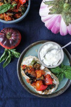 Sicilian Eggplant Caponata {Katie at the Kitchen Door}