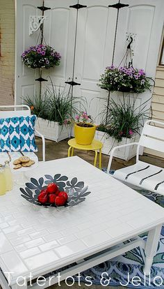DIY Subway Tile Table Redo and $100 Lowe's Giveaway!!