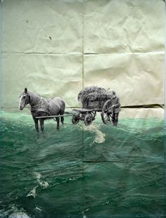 Collage seahorse 2013 Waldemar Strempler Collages, Collage Artists, Art And Illustration, Collage Art Mixed Media, Sculpture, Photomontage, Art Forms, Printmaking, Surrealism