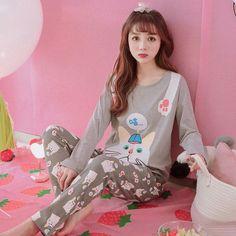 609d8207b6 Big Yards M-3XL Women Pajamas Sets 100% Cotton Nightwear Spring Autumn Long  Sleeve Pyjamas O-Neck Sleepwear Female Pijamas Mujer