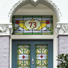 Interiors a grander entrance art deco house front doors and art deco victorian stained glass window film looks like the real thingt replace the glass purlfrost it planetlyrics Choice Image