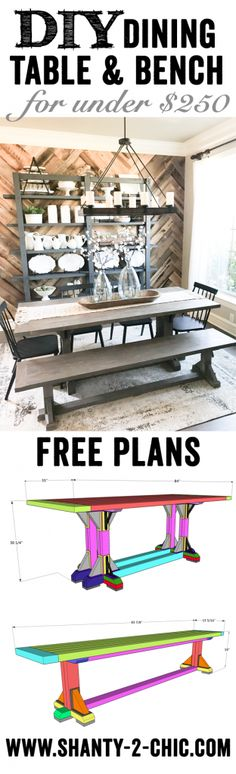 Monastery Dining Table Free DIY Plans