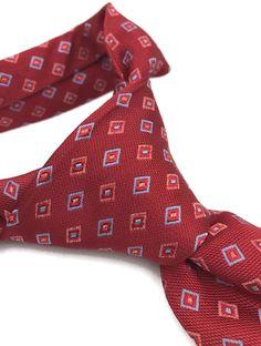 f3c8262b7c8e Brooks Brothers Makers 100% Silk Tie Mens Necktie Red Blue Diamonds Size  62L 4W #BrooksBrothers #NeckTie
