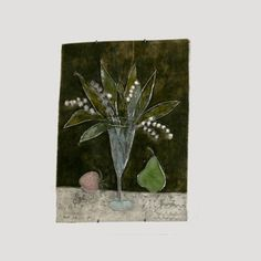 Lily of the valley Lily Of The Valley, Ceramic Artists, Illustration, Painting, Ceramics, Design, Ceramica, Pottery, Painting Art