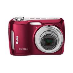 Kodak Easyshare C195 Digital Camera (Red) - http://www.gadgets-magazine.com/kodak-easyshare-c195-digital-camera-red/