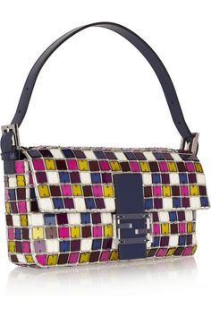 Fendi | Baguette crystal and Perspex shoulder bag | NET-A-PORTER.COM