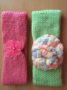 I made these with my Addi knitting machine.