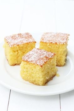 Looking for a traditional Greek Ravani recipe? This locally sourced recipe with step by step instructions will help you make the most syrupy, fluffy, tasty ravani cake! Greek Sweets, Greek Desserts, Food Cakes, Cupcake Cakes, Cupcakes, Greek Cake, Semolina Cake, Greek Cooking, Greek Dishes