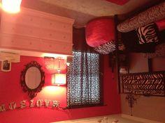 Pink and zebra big girl room