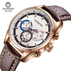 Fashion Men Watch Luxury Brand Waterproof Sport Quartz Watch Men Wrist Watch Leather Band Business Men Watch Relogio Masculino #CLICK! #clothing, #shoes, #jewelry, #women, #men