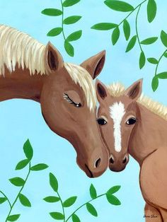 Horse Kisses Canvas Art