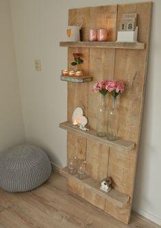 Wandplank van steigerhout , made by myself