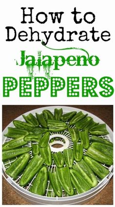 How to Dehydrate Jalapeno Peppers . Dehydrating food preserves the nutrients and takes up less space than canning. Learn how to dehydrate jalapeño peppers today. It's fast and easy! Dehydrated Vegetables, Dehydrated Food, Veggies, Canning Food Preservation, Preserving Food, Freezing Bell Peppers, Canned Food Storage, Jalapeno Recipes, Dehydrator Recipes