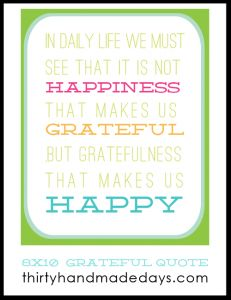 Gratefulness & Happiness