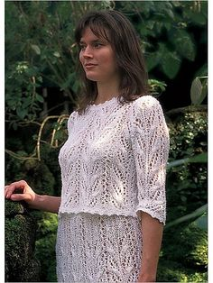 Lovely in Lace Two Piece Wedding Outfit Knitting Pattern
