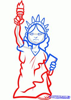 how to draw the statue of liberty easy step 6