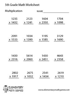 Printables Worksheets For 5th Grade Math the ojays 8th grade math and algebra worksheets on pinterest multiplication google search