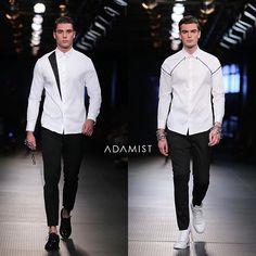 Left or Right? --- Minimalism never go out of style Indian Men Fashion, Mens Fashion Wear, Gents Fashion, Formal Dresses For Men, Formal Shirts For Men, Casual Shirts, Couple Shirt Design, Gents Shirts, Mens Designer Shirts