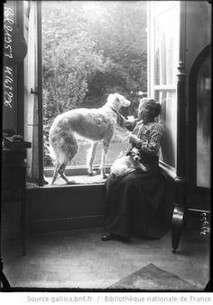 Melle Louise Breslau [avec ses chiens] : [photographie de presse] / [Agence Rol] - 1
