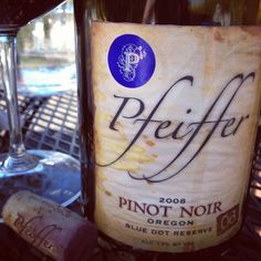 In The Glass: Pfeiffer '08 Blue Dot Reserve Pinot Noir